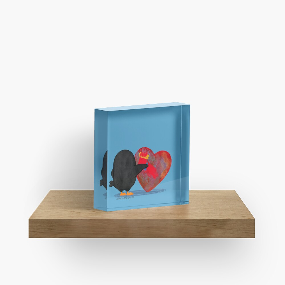 Penguins can renew your heart Acrylic Block
