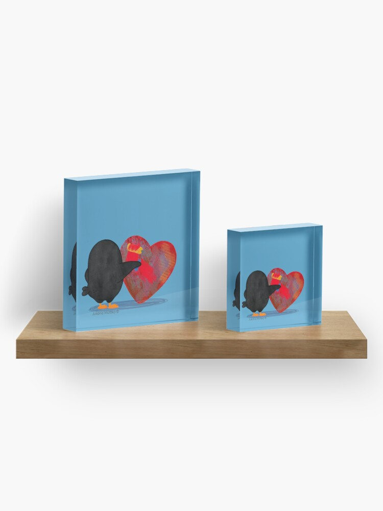 Alternate view of Penguins can renew your heart Acrylic Block