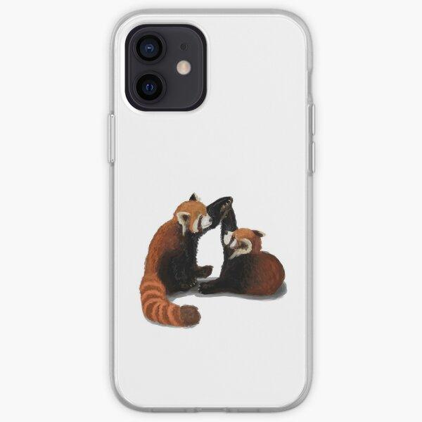 Red Panda Pair iPhone Soft Case