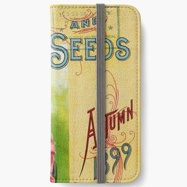 Vintage Bulbs and Seeds Catalog Cover (1899) iPhone Wallet