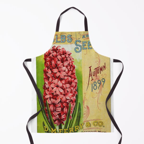 Vintage Bulbs and Seeds Catalog Cover (1899) Apron