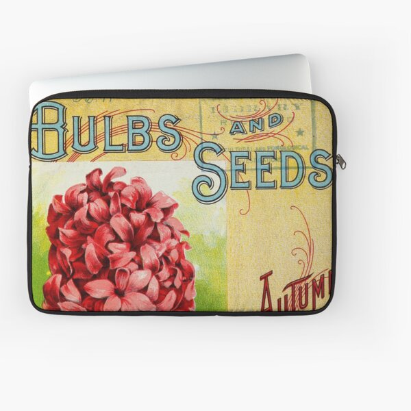 Vintage Bulbs and Seeds Catalog Cover (1899) Laptop Sleeve