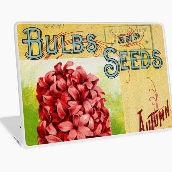 Vintage Bulbs and Seeds Catalog Cover (1899) Laptop Skin