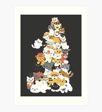 Katzenhaufen Kunstdruck