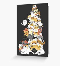 Katzenhaufen Grußkarte