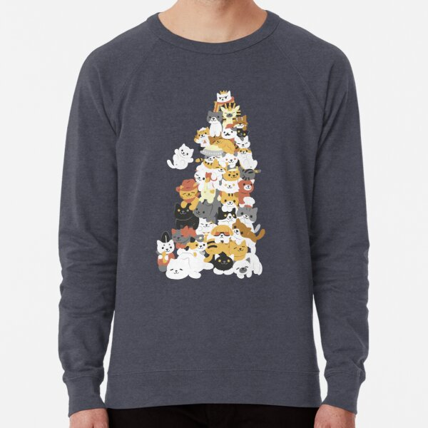 cat pile Lightweight Sweatshirt