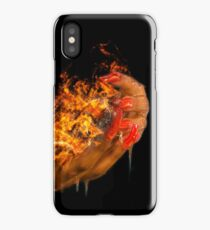 African model with a ball of fire in her hands.  iPhone Case/Skin
