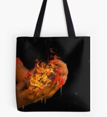 African model with a ball of fire in her hands.  Tote Bag