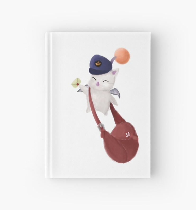"""Delivery Moogle Birthday Card Final Fantasy Themed: Final Fantasy XIV """" Hardcover Journals"""