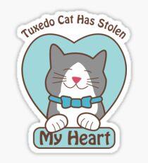 Tuxedo Cat Has Stolen My Heart 15017 Sticker