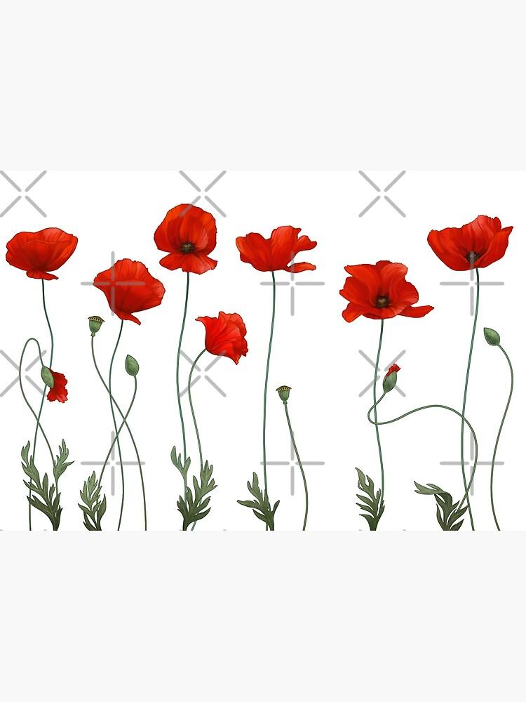 Poppy Stems. by ikerpazstudio