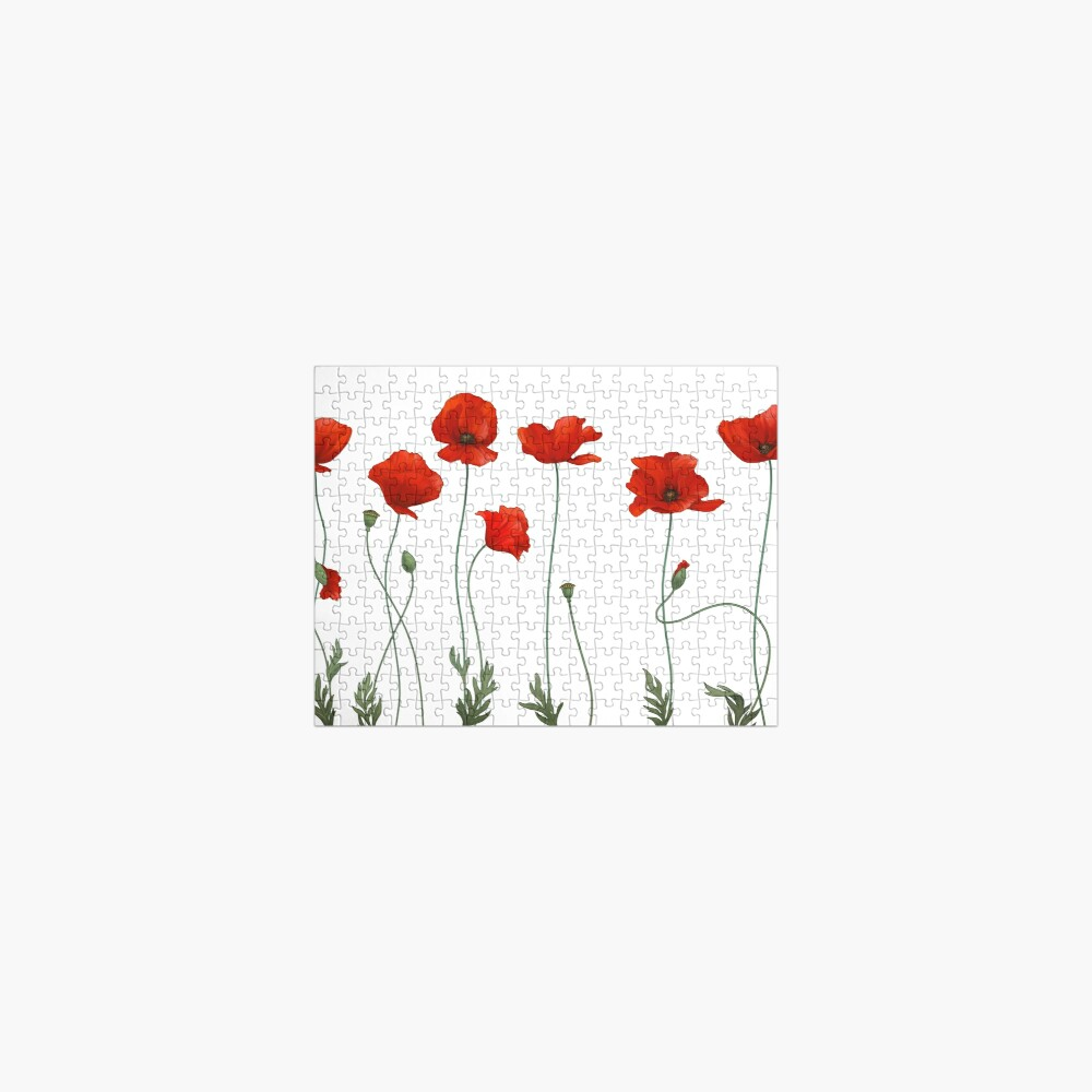Poppy Stems. Jigsaw Puzzle