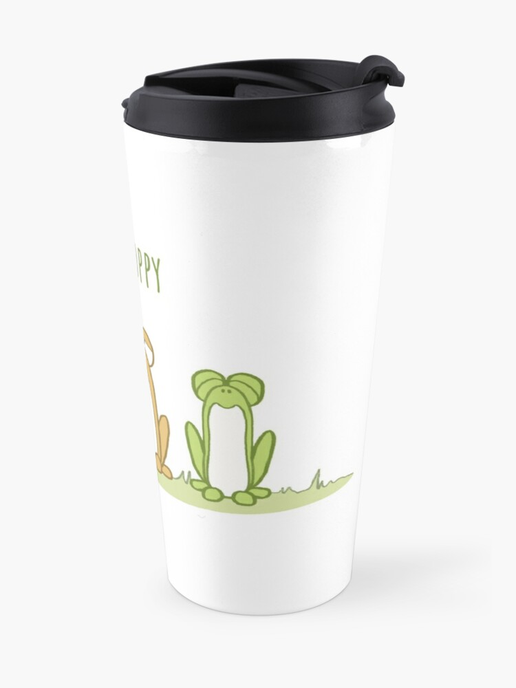 Alternate view of Be Hoppy Frogs Travel Mug