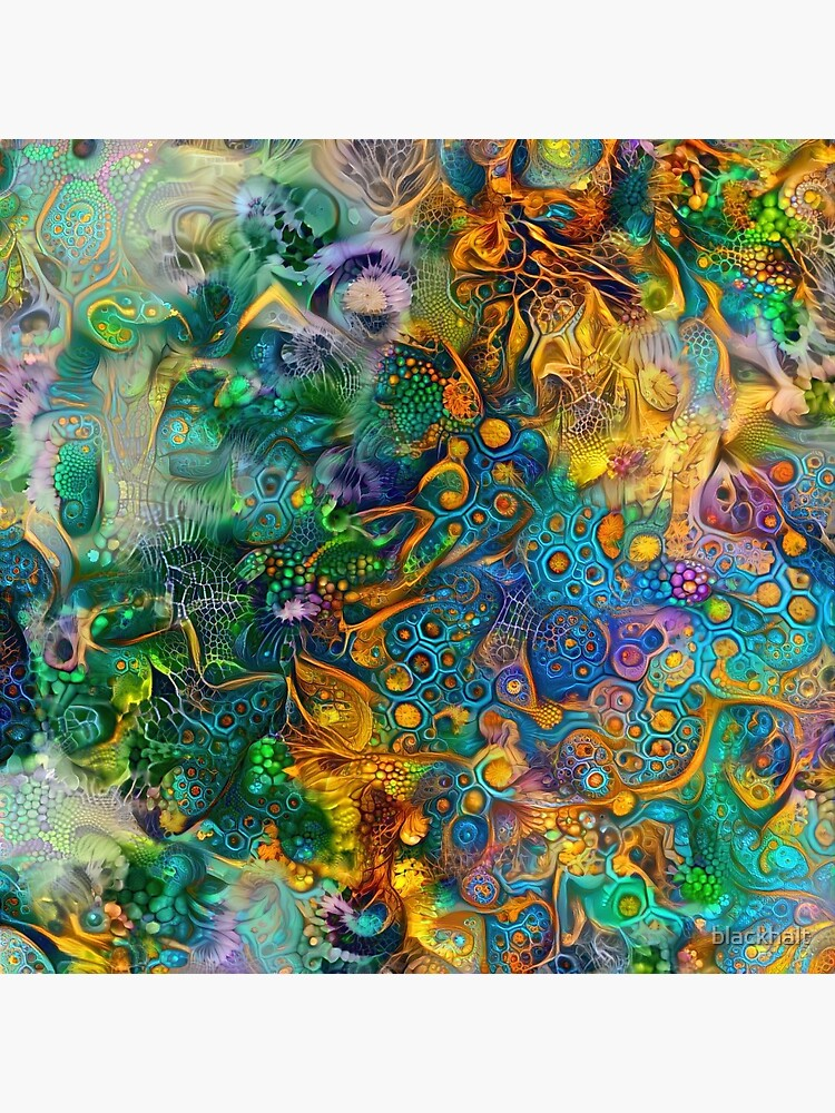 Deepdream floral abstraction by blackhalt