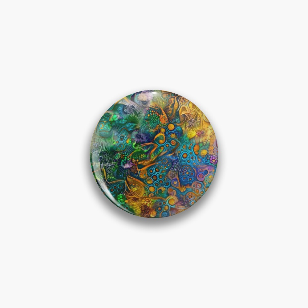 Deepdream floral abstraction Pin