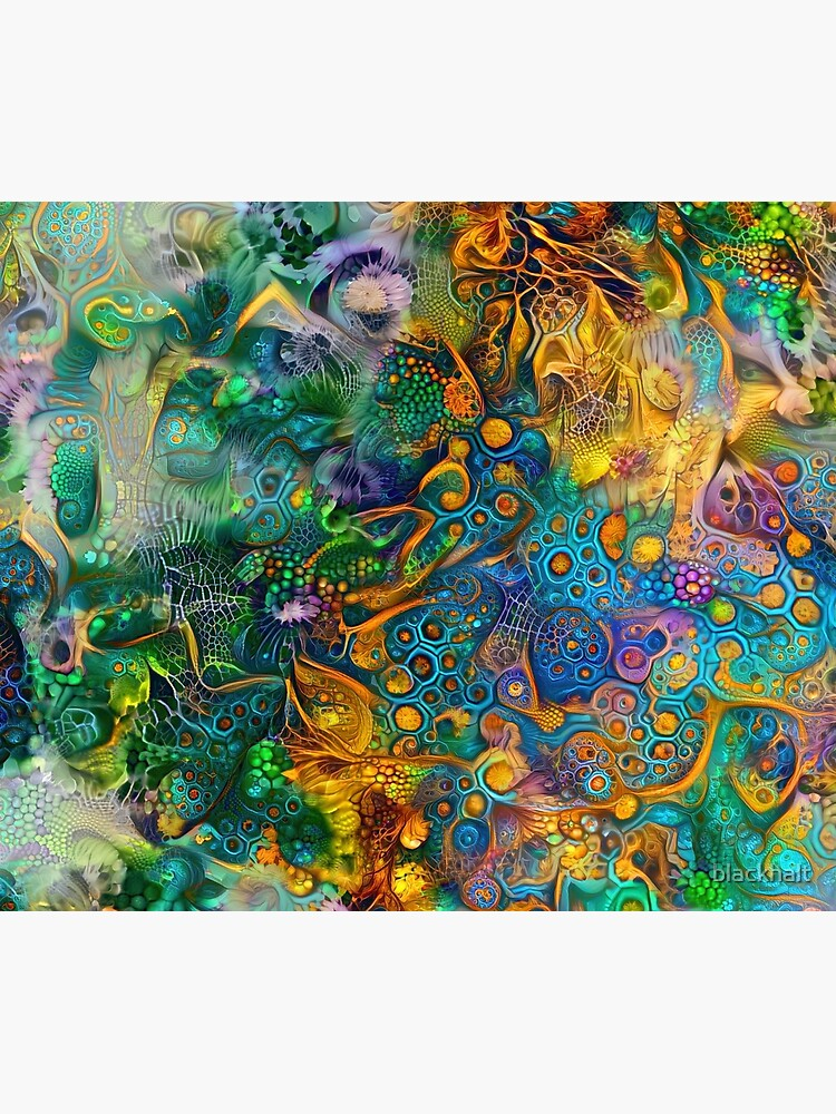 Deepdream floral abstraction by blackhalt