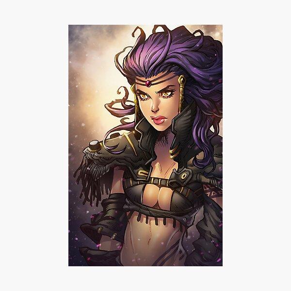 Sassy warrior girl  Photographic Print