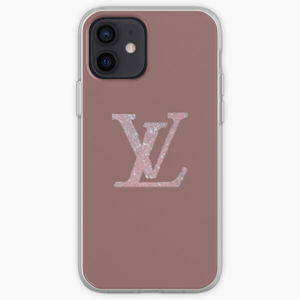 Pink sparkly Louis V  iPhone Soft Case