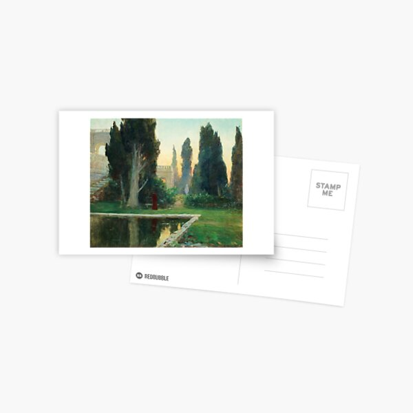 GOTTFRID KALLSTENIUS, VILLA D´ESTE AT SUNSET Postcard