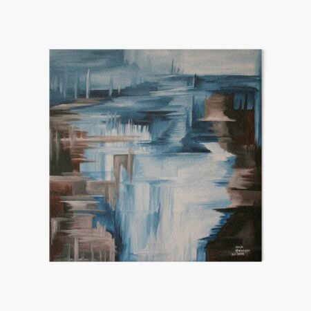 Like a waterfall in graphics; Painting abstract. Art Board Print
