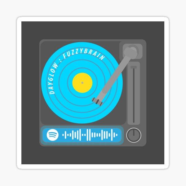 Fuzzy Brain - Dayglow Spotify Code Record Player Sticker
