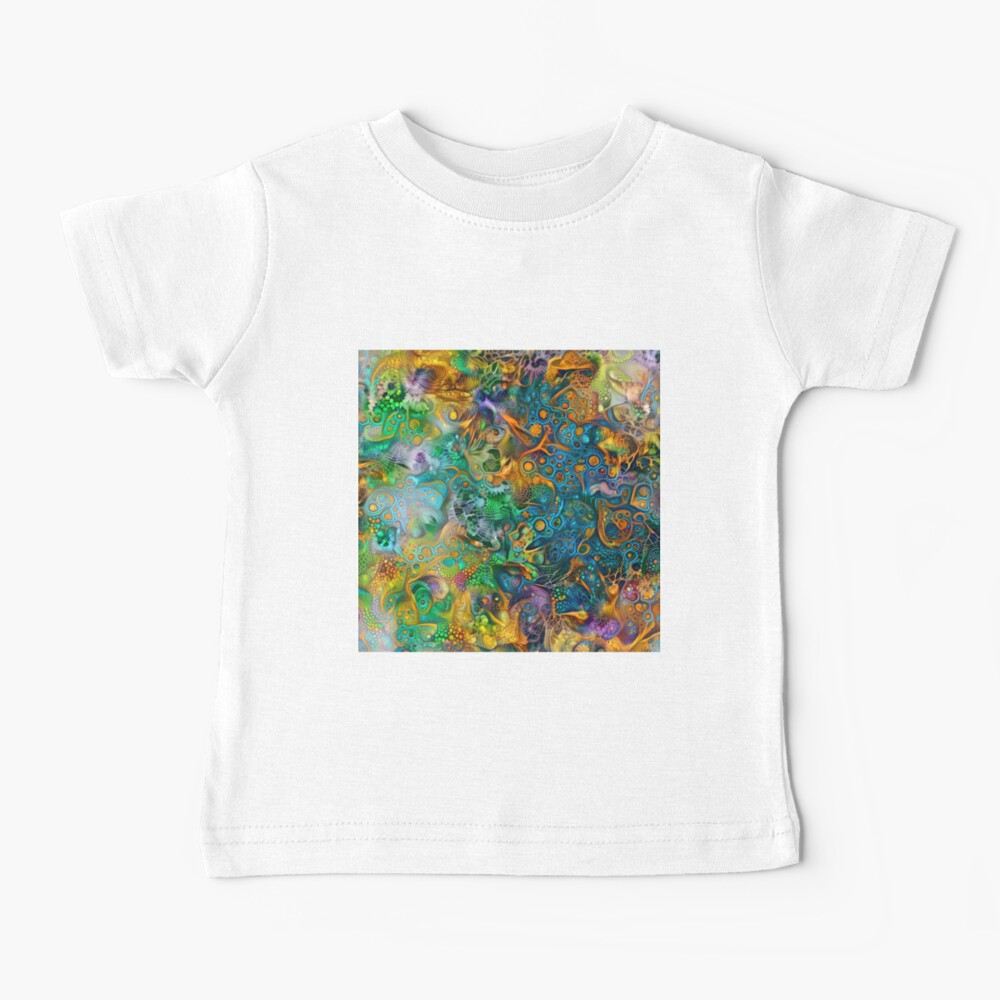 Deepdream floral abstraction Baby T-Shirt