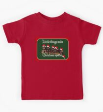 Little Things Make Christmas Special Vector Kids Tee