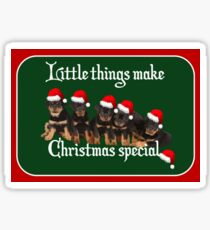 Little Things Make Christmas Special Vector Sticker