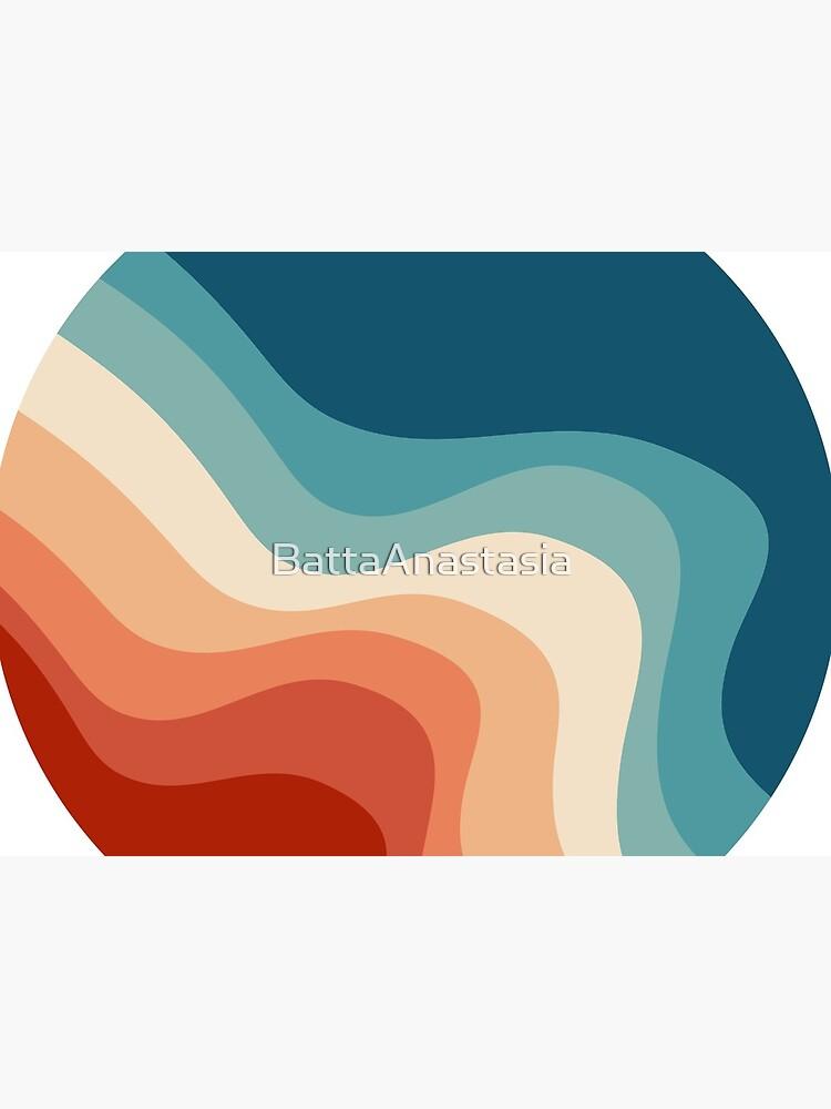 Retro style waves by BattaAnastasia