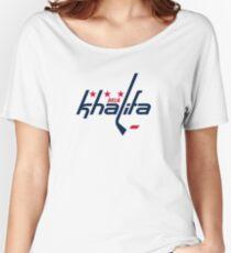 Mia Khalifa Caps Logo Women's Relaxed Fit T-Shirt