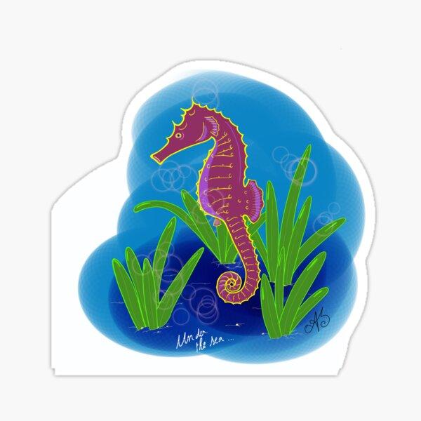 Sous la mer: Hippocampe Sticker