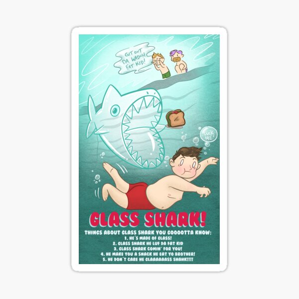 MBMBAM Glass Shark Sticker
