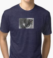 Close Up Portrait Of A Relaxed Grey Cat Tri-blend T-Shirt