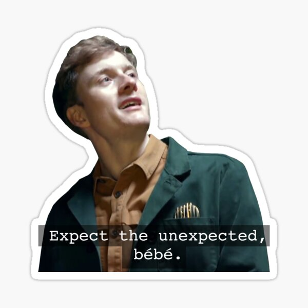 expect the unexpected bébé Sticker
