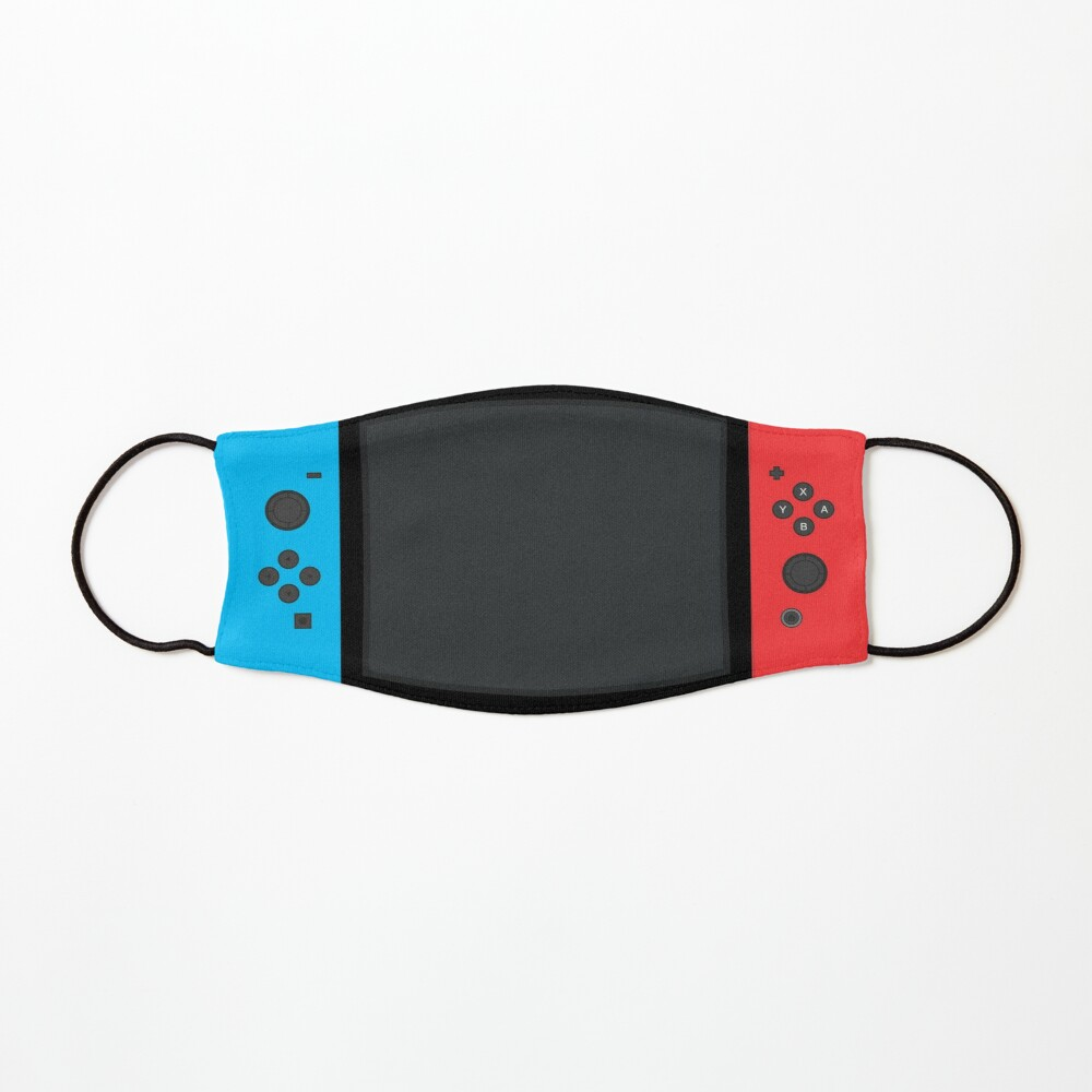 Nintendo Switch Blue Red Game Gaming Gamer Fitted Face Mask Design  Mask