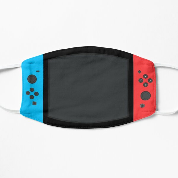 Nintendo Switch Blue Red Game Gaming Gamer Conception de masque facial ajusté Masque sans plis