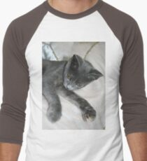 Cute Grey Kitten Relaxing T-Shirt