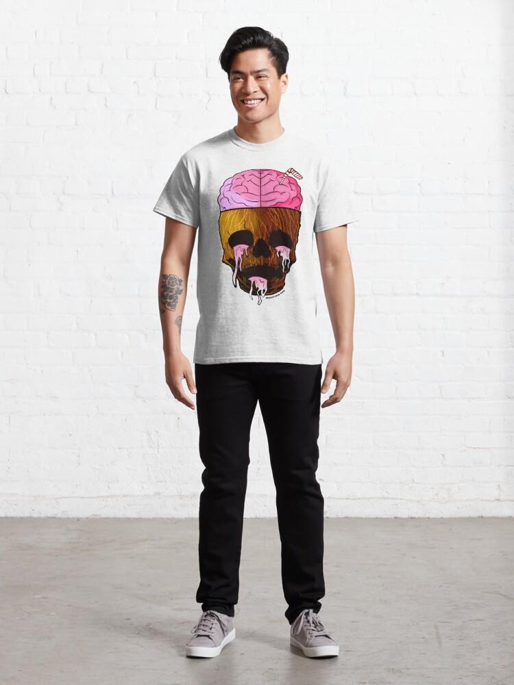 Alternate view of Coconut Skull - Grunge Fruit Skull Classic T-Shirt