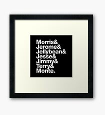 The Original 7ven Morris Day Jimmy Jam Merch Framed Print