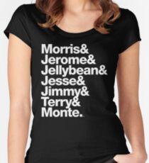 The Original 7ven Morris Day Jimmy Jam Merch Women's Fitted Scoop T-Shirt