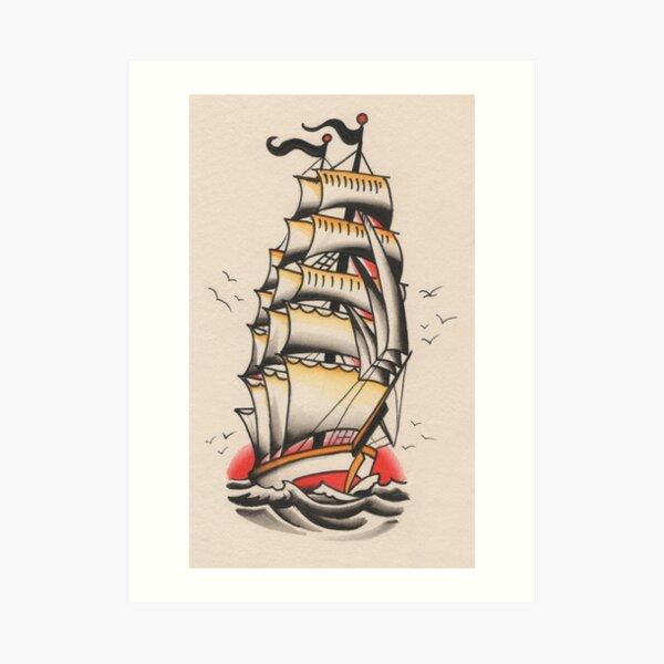 Schiff Kunstdruck