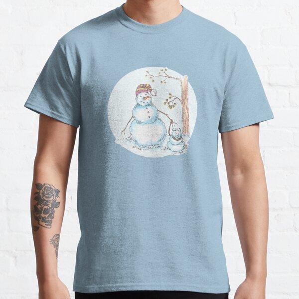 The snowman dogwalker Classic T-Shirt