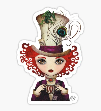 Lady Hatter Sticker