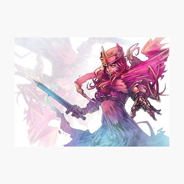 Rainbow fantasy knight girl Photographic Print