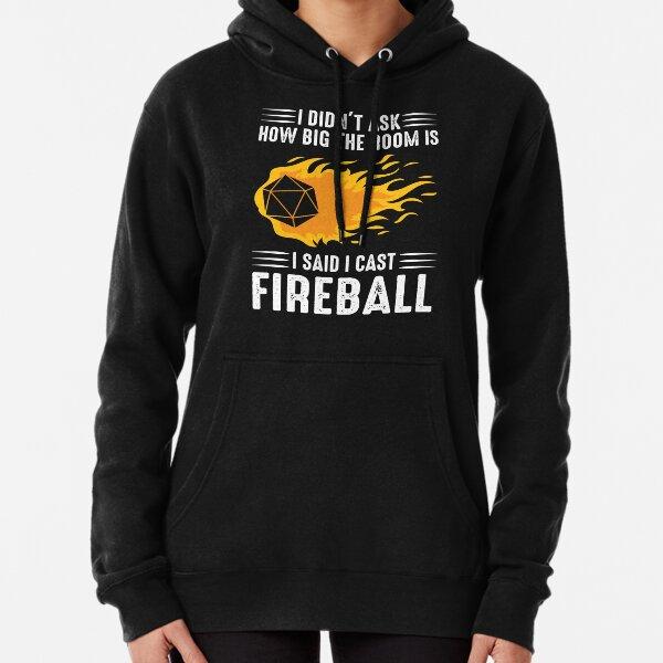 Ich habe Fireball Wizard Sorcerer DM Gift TTRPG gewirkt Hoodie