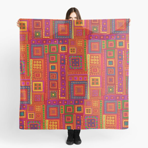 Color Squares inspired by India Scarf