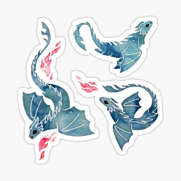 Dragon fire dark blue Sticker