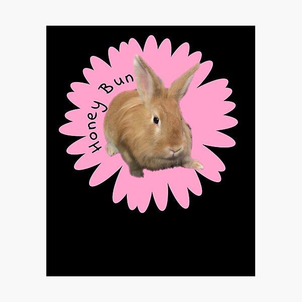 Ich liebe mein Lion Head Bunny-Honey Bun Fotodruck