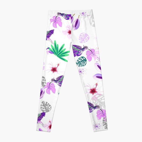 Humming bird floral pattern Leggings
