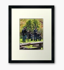 Group of Union Soldiers Framed Print